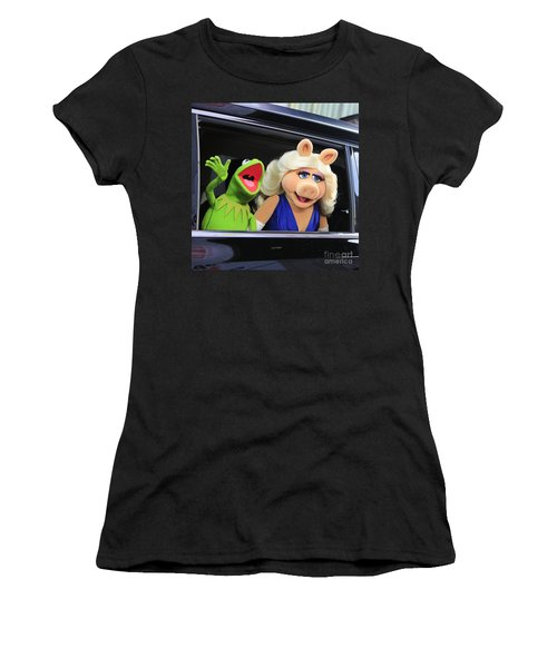 Kermit Takes Miss Piggy To The Movies Women's T-Shirt (Athletic Fit)