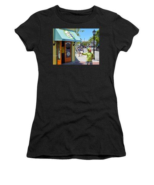 Key Lime Pie Man In Key West Women's T-Shirt (Athletic Fit)