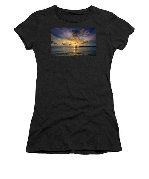 Key West Florida Sunset Mallory Square Women's T-Shirt