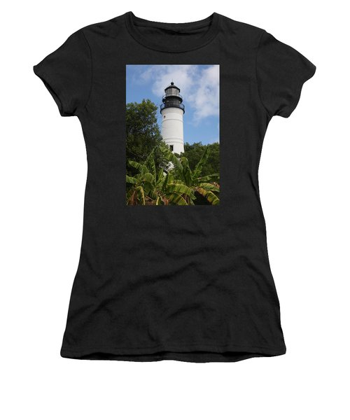 Women's T-Shirt (Junior Cut) featuring the photograph Key West Lighthouse  by Christiane Schulze Art And Photography