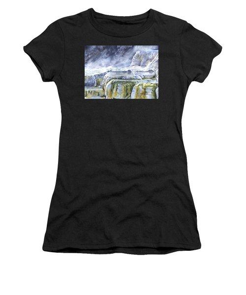 Killdeer Palisades - Mammoth Hot Springs Women's T-Shirt
