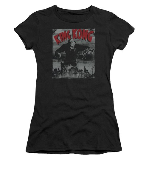 King Kong - City Poster Women's T-Shirt (Athletic Fit)