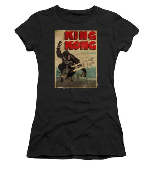 King Kong - Old Worn Poster Women's T-Shirt (Athletic Fit)