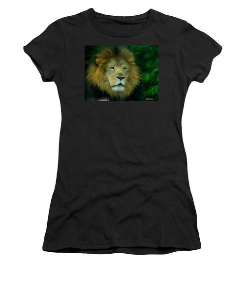 Women's T-Shirt (Junior Cut) featuring the painting King by Maria Urso