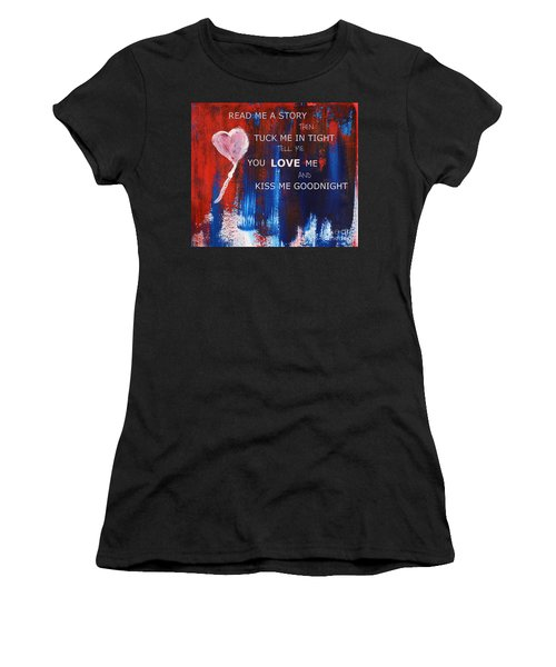Kiss Me Goodnight Women's T-Shirt (Athletic Fit)