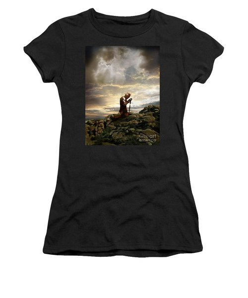 Kneeling Knight Women's T-Shirt (Junior Cut) by Jill Battaglia