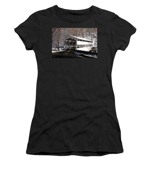 Knox Bridge In The Snow Women's T-Shirt (Athletic Fit)