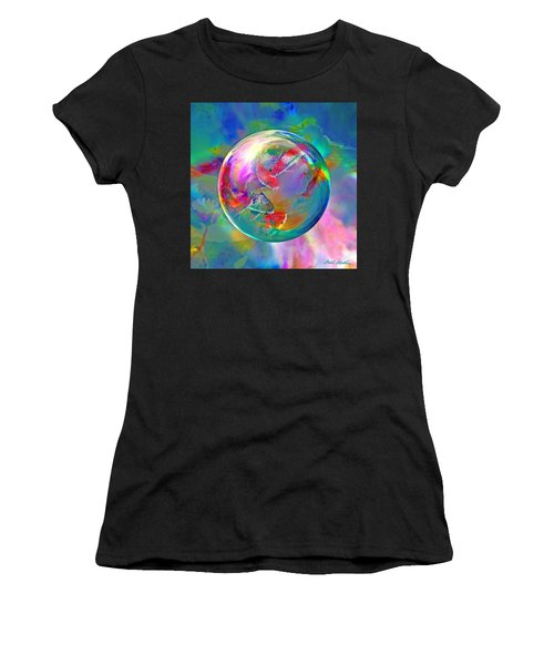 Koi Pond In The Round Women's T-Shirt (Athletic Fit)