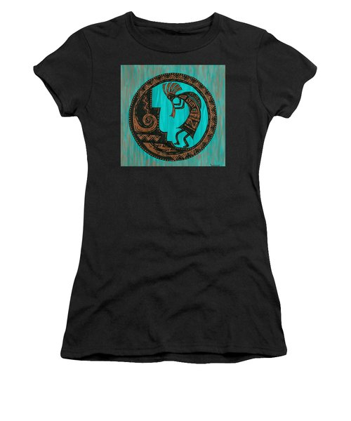Women's T-Shirt (Junior Cut) featuring the painting Kokopelli by Susie WEBER
