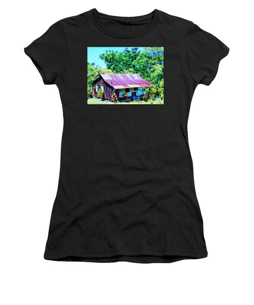 Kona Coffee Shack Women's T-Shirt (Junior Cut) by Dominic Piperata