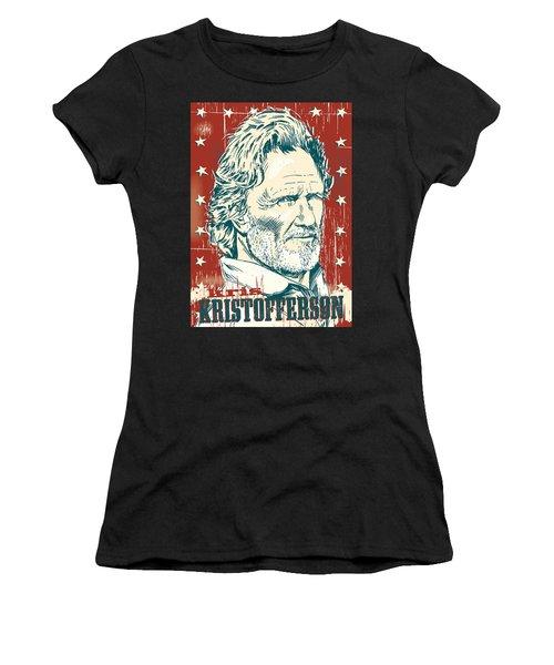 Kris Kristofferson Pop Art Women's T-Shirt (Athletic Fit)