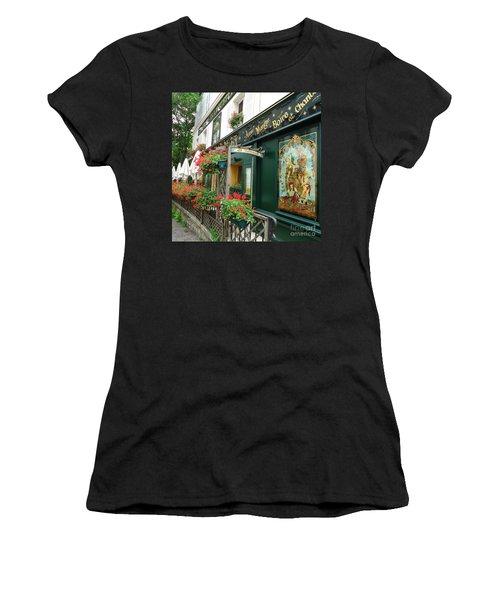 La Terrasse In Montmartre Women's T-Shirt (Junior Cut) by Barbie Corbett-Newmin