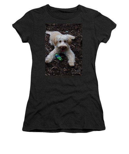 Labradoodle At Play Women's T-Shirt (Athletic Fit)
