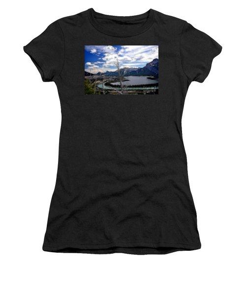 Lac Des Arcs Fractal Women's T-Shirt (Athletic Fit)