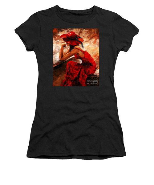 Lady In Red 21 Women's T-Shirt (Athletic Fit)