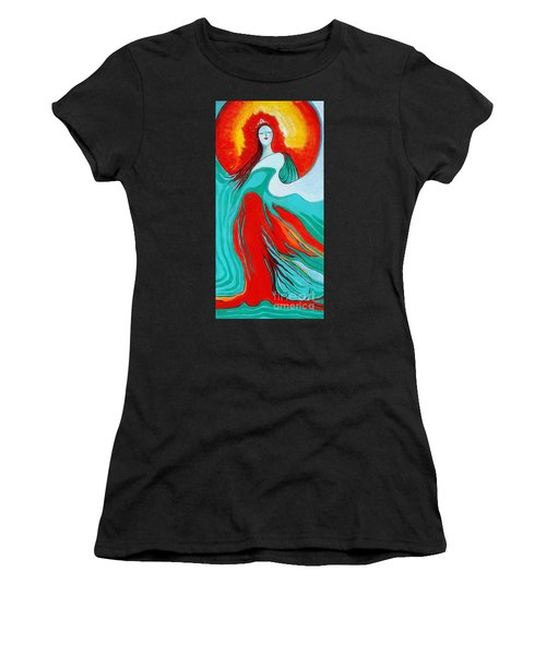 Lady Of Two Worlds Women's T-Shirt (Athletic Fit)