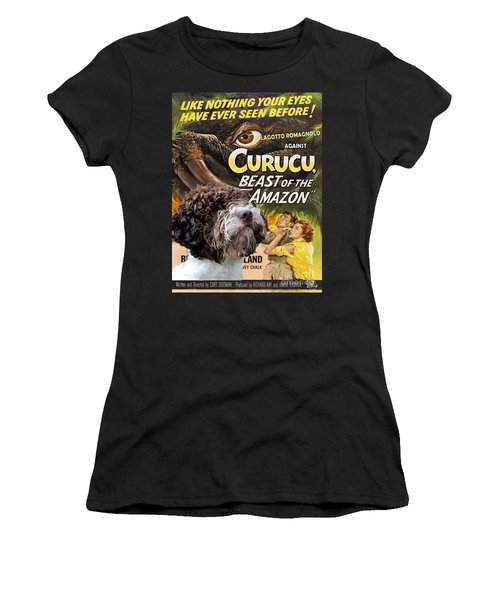 Lagotto Romagnolo Art Canvas Print - Curucu Movie Poster Women's T-Shirt (Athletic Fit)