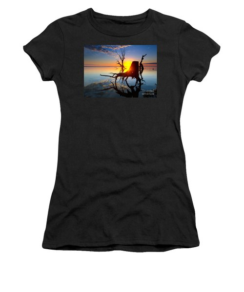 Women's T-Shirt (Junior Cut) featuring the photograph Lake Bonney Sunrise by Bill  Robinson