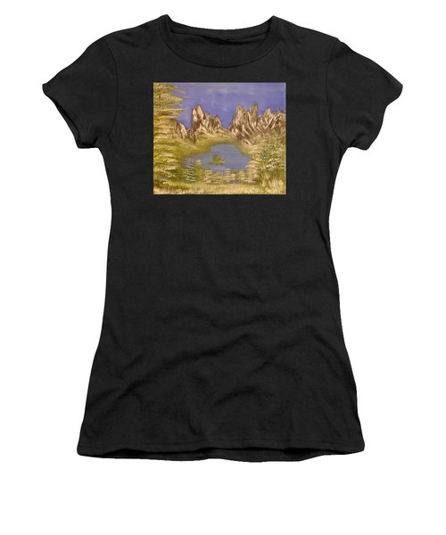 Lake In Glacier Women's T-Shirt (Athletic Fit)