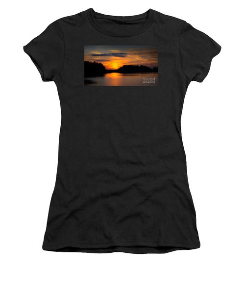 Women's T-Shirt featuring the photograph Lake Naomi Pocono Sunset by Gary Keesler