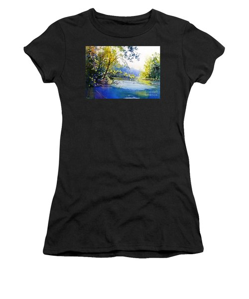 Lake View 2  Women's T-Shirt (Athletic Fit)