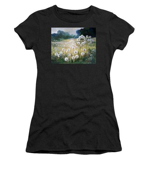 Lanscape With Blow-balls Women's T-Shirt (Athletic Fit)