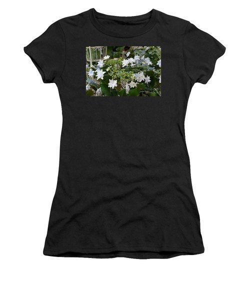 Women's T-Shirt (Junior Cut) featuring the photograph Shooting Star Bouquet by Jeannie Rhode