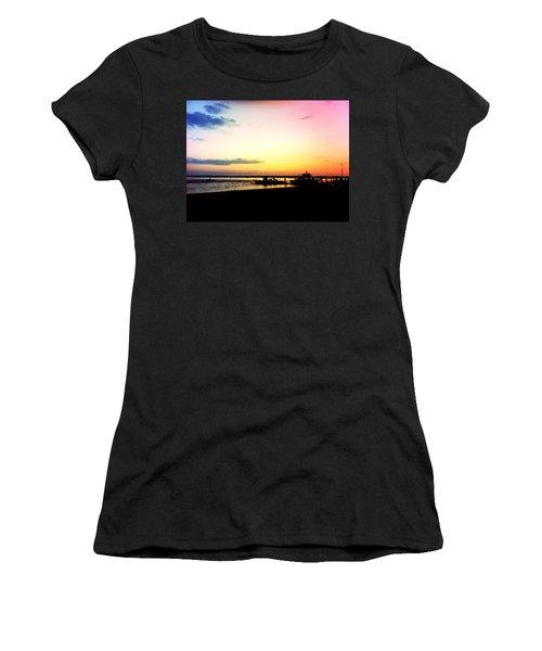 Women's T-Shirt (Junior Cut) featuring the photograph Last Light by Denyse Duhaime