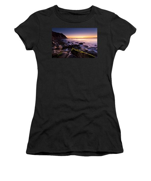 Women's T-Shirt (Junior Cut) featuring the photograph Last Ray by Mihai Andritoiu