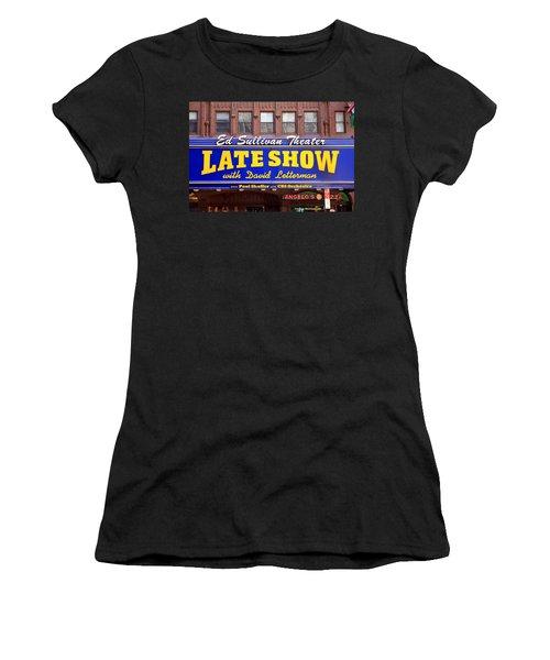Late Show New York Women's T-Shirt (Junior Cut) by Valentino Visentini