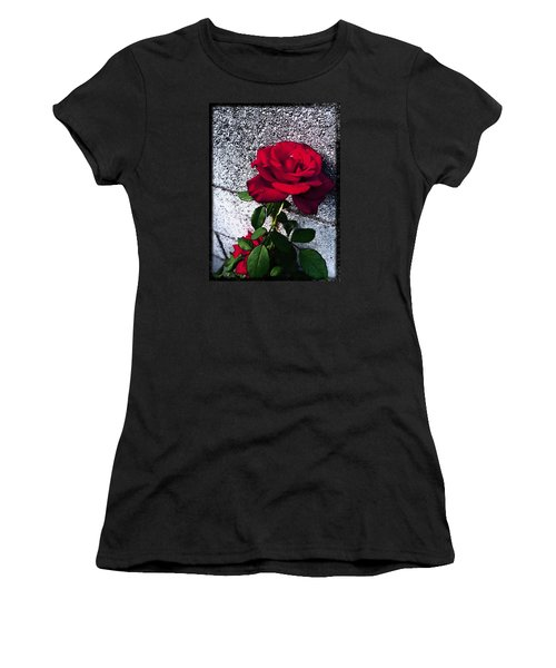 Women's T-Shirt (Junior Cut) featuring the photograph Late Summer Rose by Shawna Rowe
