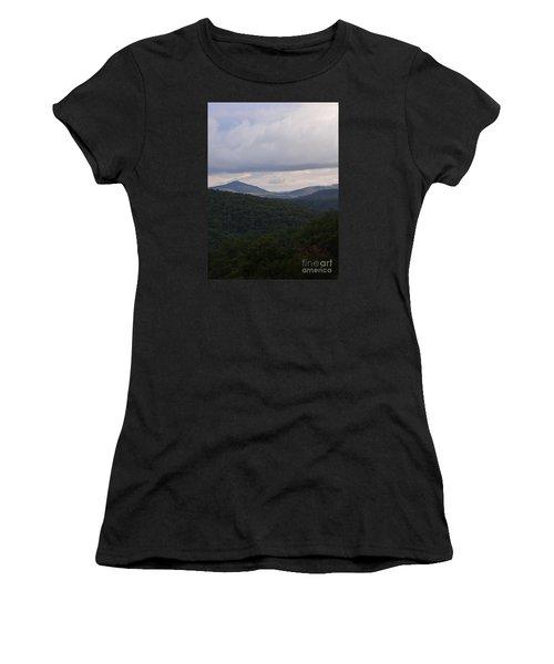 Women's T-Shirt (Junior Cut) featuring the photograph Laurel Fork Overlook 1 by Randy Bodkins