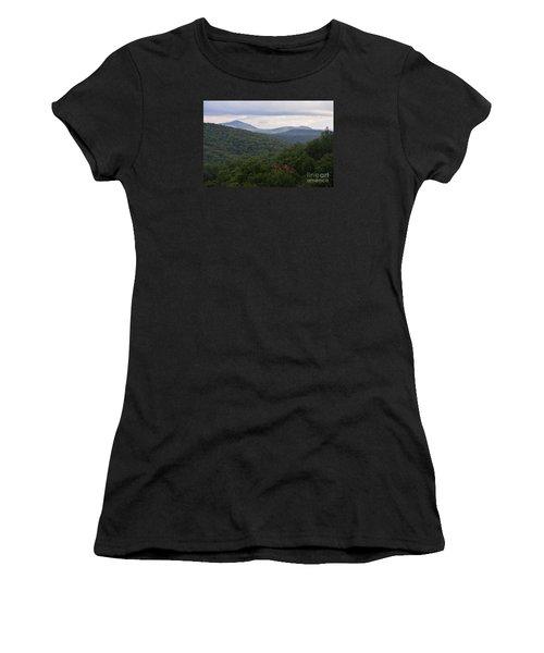 Women's T-Shirt (Junior Cut) featuring the photograph Laurel Fork Overlook II by Randy Bodkins