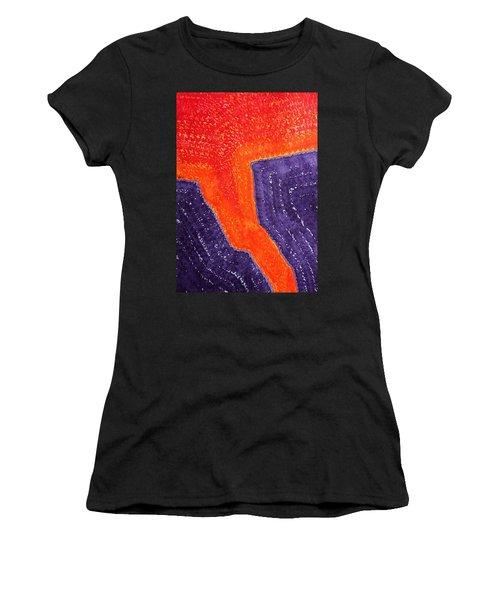 Lava Flow Original Painting Women's T-Shirt