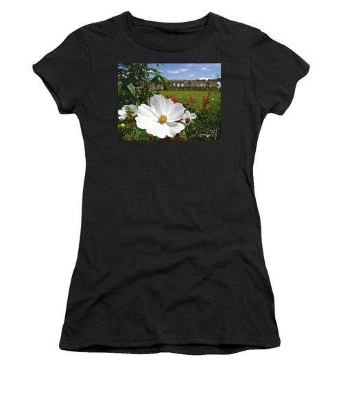 Women's T-Shirt (Junior Cut) featuring the photograph Le Fleur De Versailles by Suzanne Oesterling
