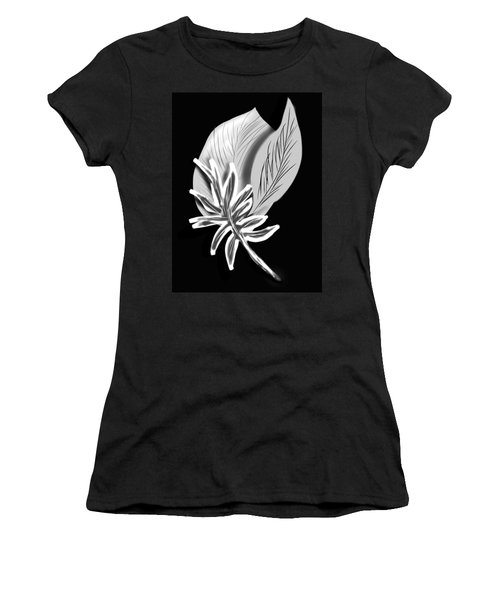 Leaf Ray Women's T-Shirt (Junior Cut) by Christine Fournier