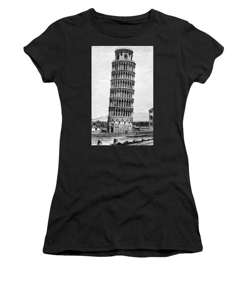 Leaning Tower Of Pisa 1870 Drawing Women's T-Shirt