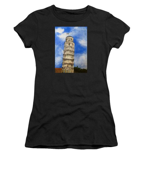Leaning Tower Of Pisa Women's T-Shirt (Athletic Fit)