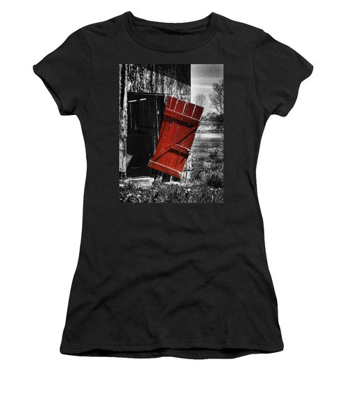 Leave The Door Open Women's T-Shirt (Athletic Fit)