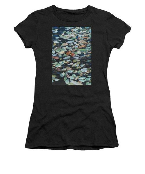 Leaves On Pond Women's T-Shirt