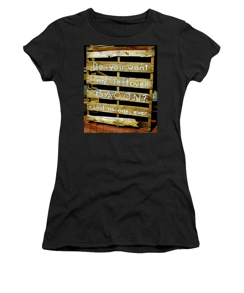 Leftover Bacon Women's T-Shirt (Athletic Fit)