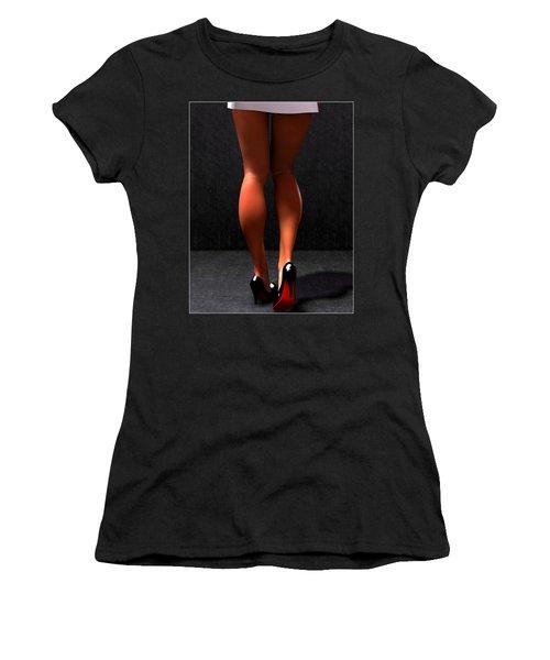 Women's T-Shirt (Junior Cut) featuring the digital art Legs... by Tim Fillingim