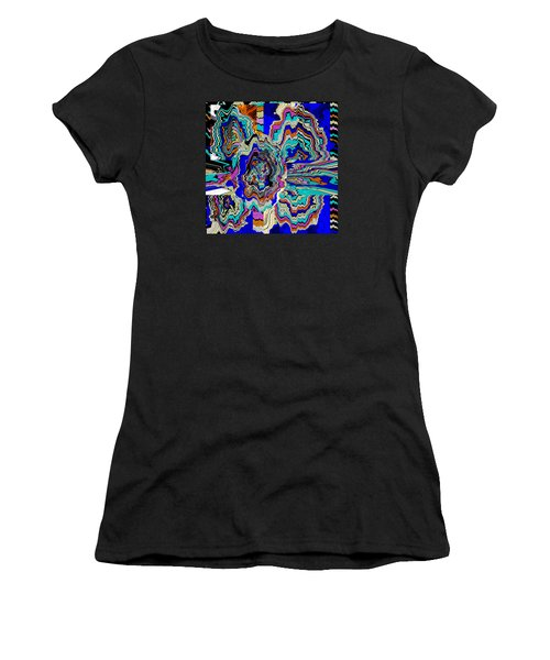 Original Abstract Art Painting Let Life Bloom Women's T-Shirt (Athletic Fit)