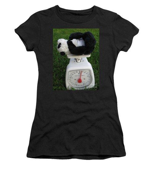 Women's T-Shirt (Junior Cut) featuring the photograph Let's Check My Weight Now by Ausra Huntington nee Paulauskaite