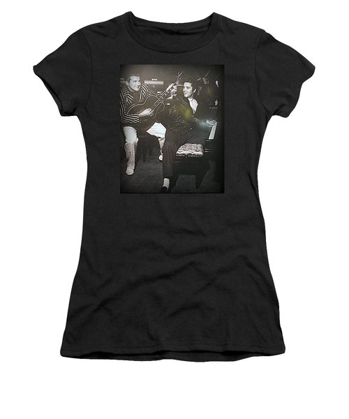 Liberace And Elvis Women's T-Shirt (Athletic Fit)