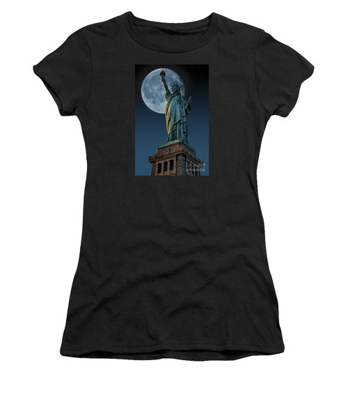 Liberty Moon Women's T-Shirt (Athletic Fit)