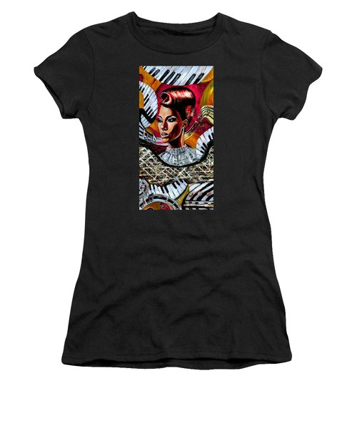 Life May Put You On Crazy Roller-coaster Rides But When Your Song Plays... Women's T-Shirt (Athletic Fit)