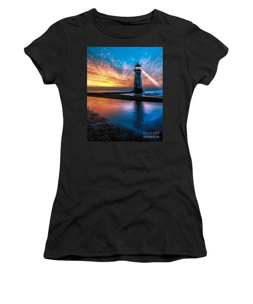 Light House Sunset Women's T-Shirt (Athletic Fit)