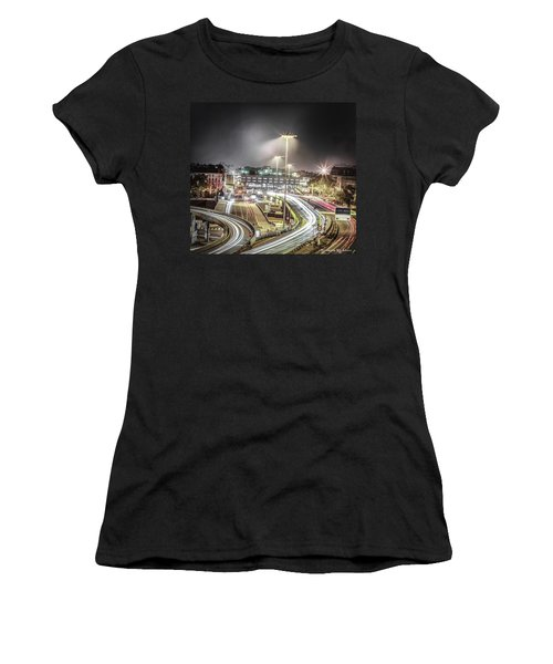 Women's T-Shirt featuring the photograph Light Moves by Stwayne Keubrick