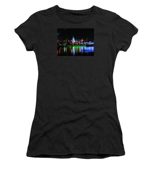 Light Reflections At Night Women's T-Shirt (Junior Cut) by Kathy Long
